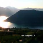 Fotografia aerea di Montisola e del lago di Iseo
