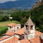 Fotografia aerea del monastero di San Pietro in Lamosa